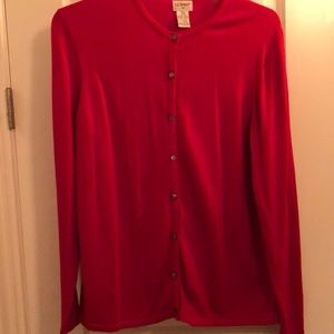 Women's Red buttoned cardigan